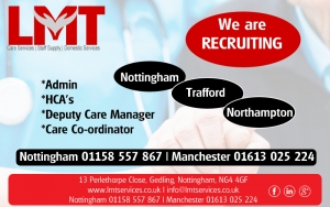 Jobs in Nottingham, Northampton, Trafford